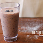 White Peach and Blueberry Smoothie