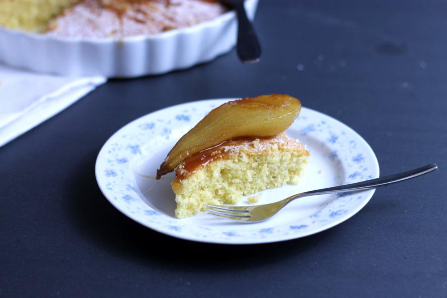 Pear Almond And Polenta Cake