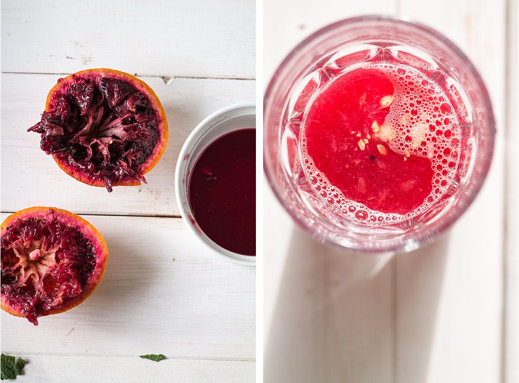 blood orange spritzers