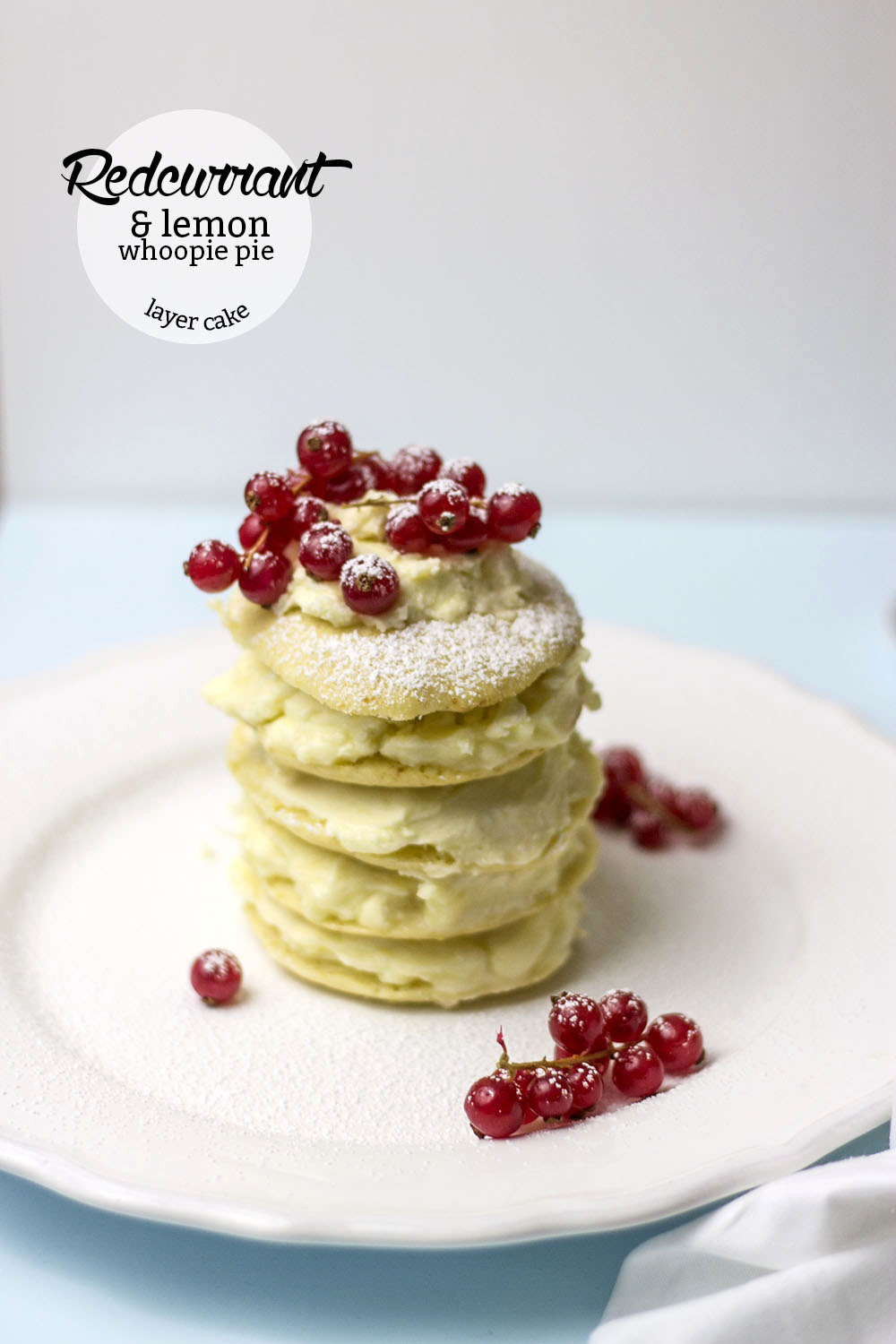 Redcurrant And Lemon Whoopie Pie Layer Cake