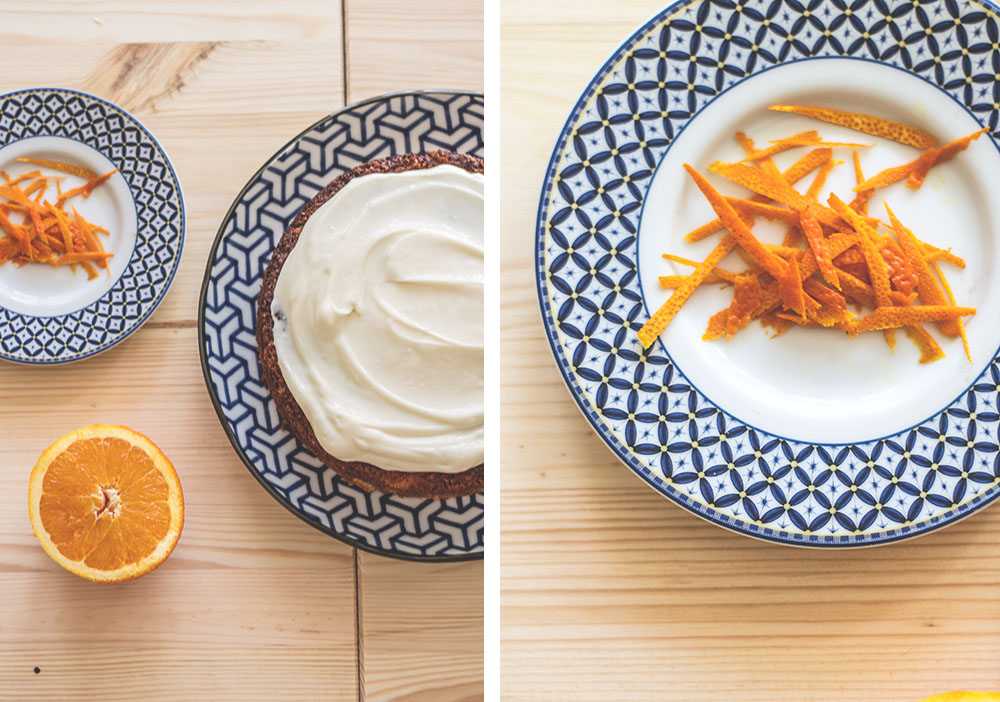 orange and cream cheese cake | Sugar Thumb