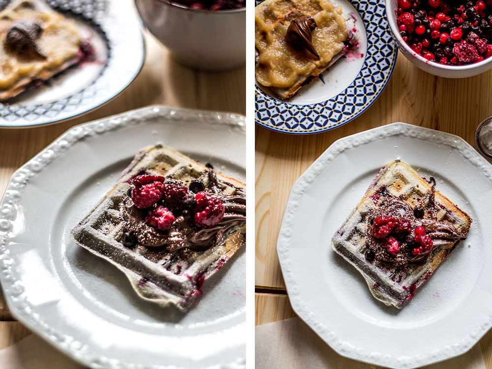 Berry waffles recipe