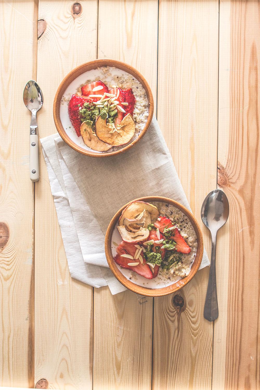 coconut quinoa, bulgur & oat porridge